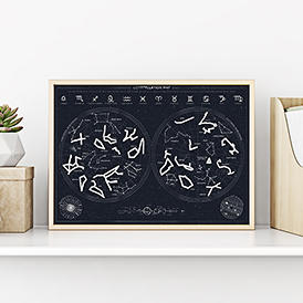 Constellation Scratch Poster
