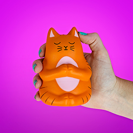 Meow-detation Stress Toy