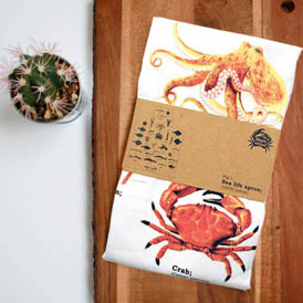 sea life apron in packaging