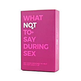 What Not To Say During Sex