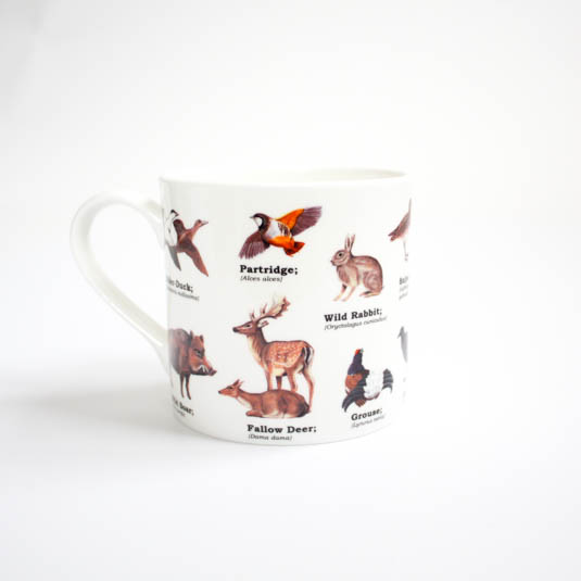 Wild Animals Bone China Mug