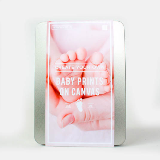 Image of Baby Prints on Canvas Gift Box
