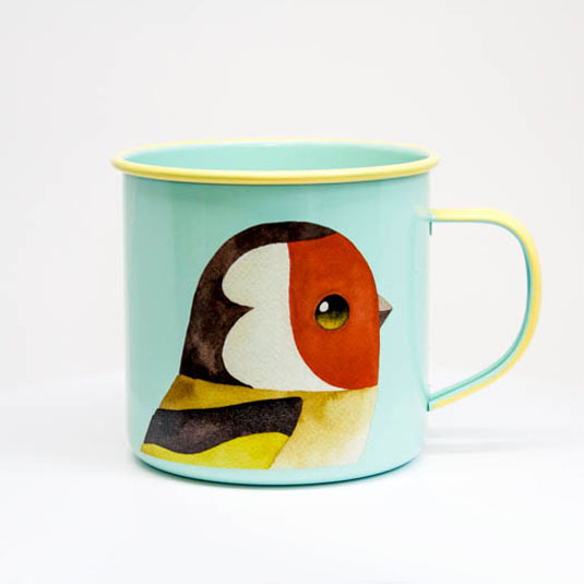 GoldFinch Enamel Mug