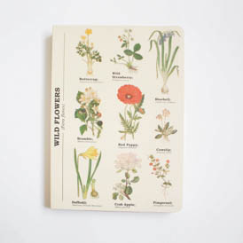 Wild Flower Notebook