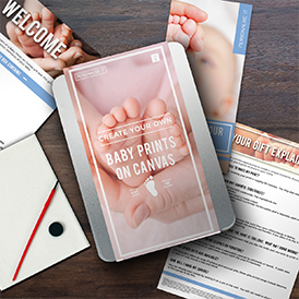 Personalise It - Baby Prints on Canvas