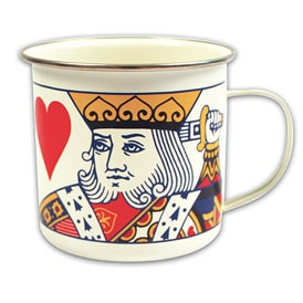 King of Hearts Enamel Mug