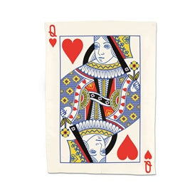 Queen of Hearts Tea Towel