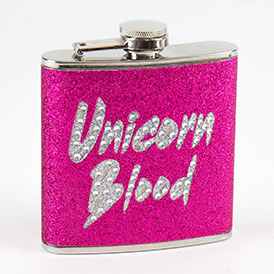 Unicorn Hip Flask
