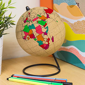 COLOR IN CORK GLOBE