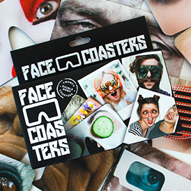Beer Mat Face Coasters