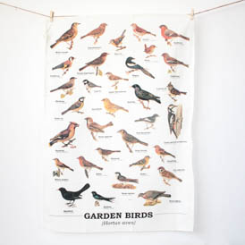 Garden Birds - Tea Towel