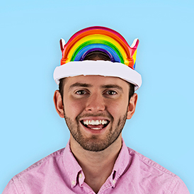 Inflatable Rainbow Crown
