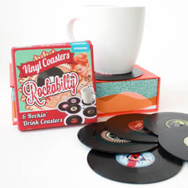 Rockabilly Vinyl Coasters