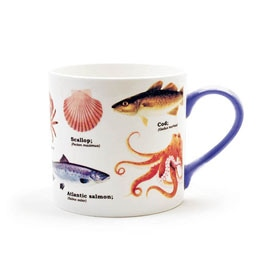 Sea Life Bone China Mug