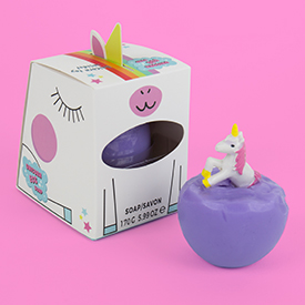 Unicorn egg soap