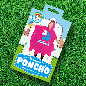 Sprinkles the Unicorn Poncho